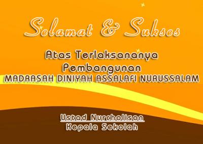 Madrasah DINIYAH ASSALAFI NURUSSALAM