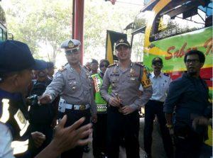 AKBP Alfian Nurrizal, Kapolres Probolinggo kota saat berada di Terminal bayuangga