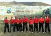 Anggota team yang mengikuti lomba menembak di acara peringatan HUT Bhayangkara ke-71 ¬di lapangan tembak Polda Jatim