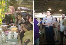 AKBP Alfian Nurrizal beserta tim saat melakukan sidak di pasar Baru dan gudang indomarco kota Probolinggo