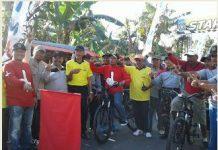 pelepasan peserta gowes oleh ketua DPRD kab. Lumajang