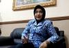 Kakanwil Kum Ham Jawa Timur Dr.Susy Susilawati,SH,MH, Ketika Redaktur Wartapos Wawancara Exclusif di kantornya. (Foto by Jhon Saragih)