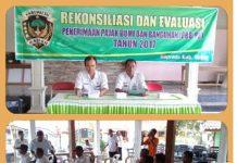 Saat kegiatan rekonsiliasi dan evaluasi penerimaan Pajak PBB-P2 di Kec Gemarang.