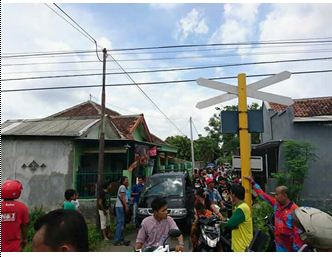 Lokasi kecelakaan di Kelirahan Kebonsari Wetan kota Probolinggo yang merenggut korban jiwa